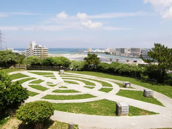 ガジャンビラ公園の広場