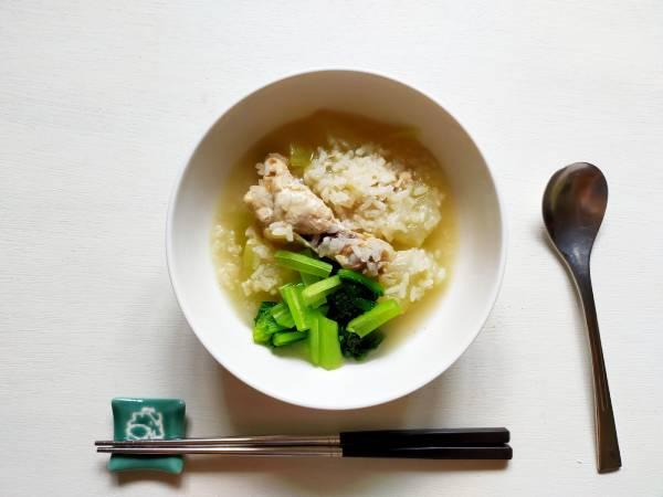 シブイ(冬瓜)のサムゲタン風スープ|もち米|手羽元|夏バテに効く